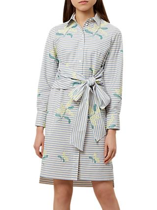 Hobbs Lillia Dress, Blue/White