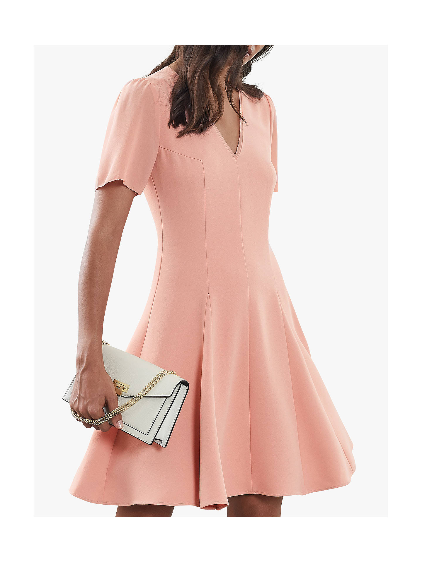 BuyReiss Seamed Sleeve Dress, Pale Pink, 6 Online at johnlewis.com