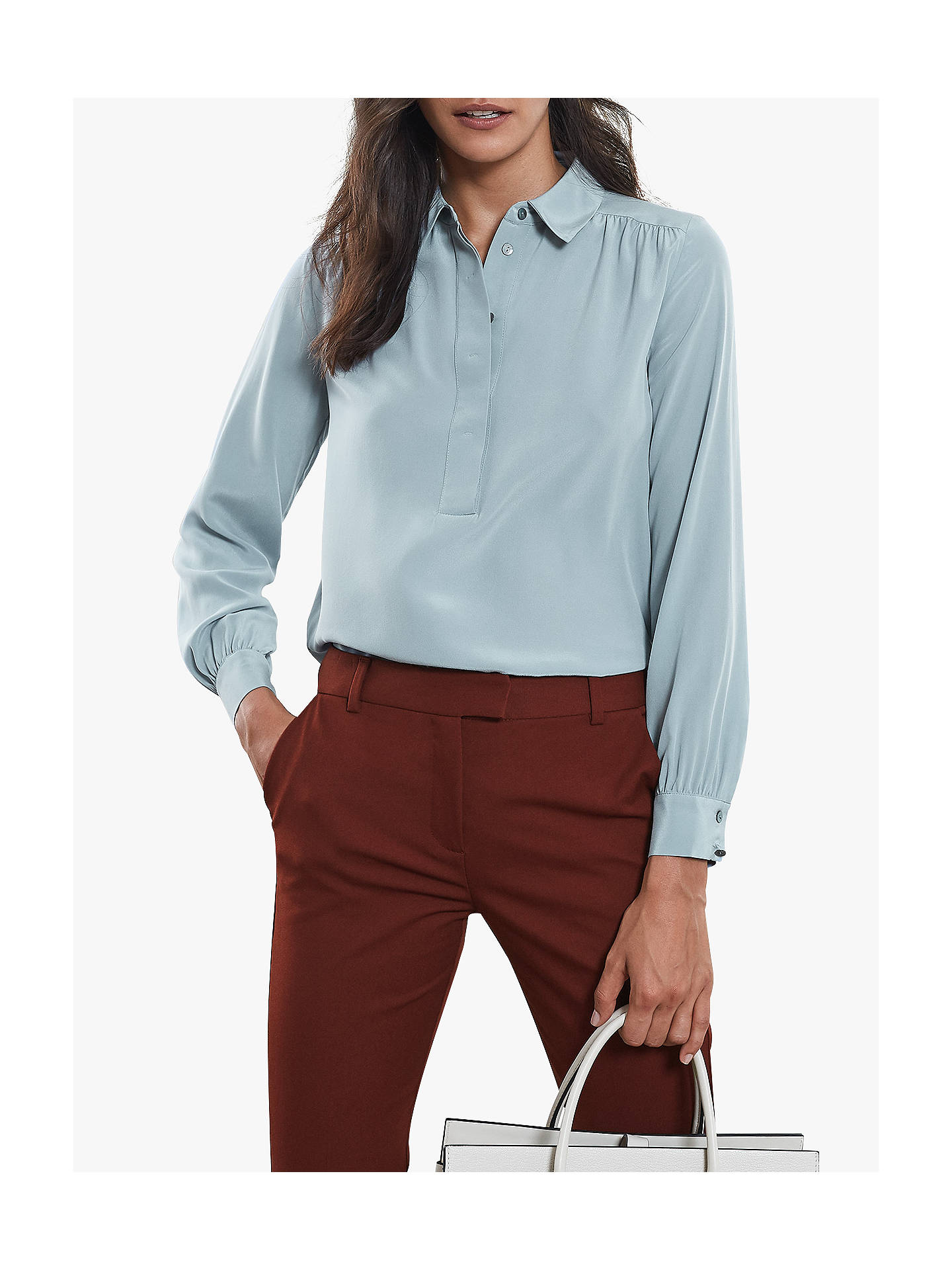 86538c579a6e6 Reiss Nadina Silk Shirt at John Lewis   Partners