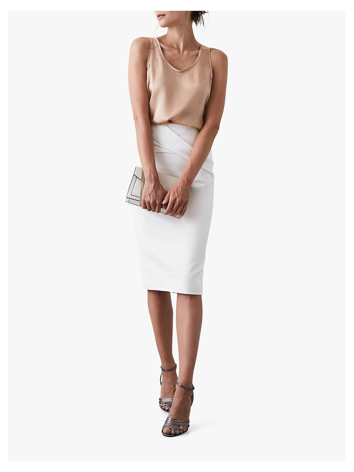 Buy Reiss Remy Silk Front Vest, Soft Bronze, M Online at johnlewis.com