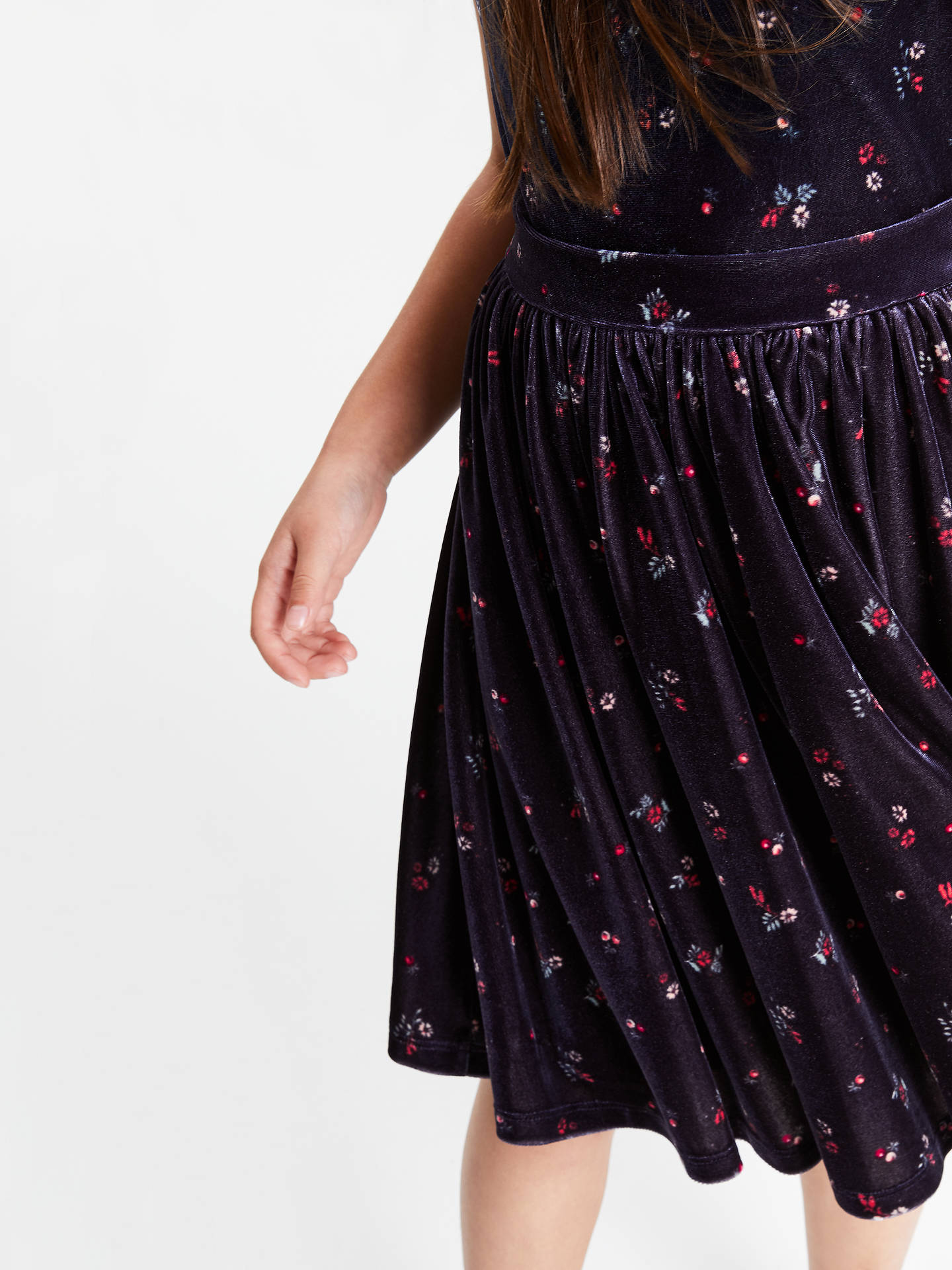 Buy John Lewis & Partners Heirloom Collection Girls' Velvet Party Dress, Navy, 5 years Online at johnlewis.com