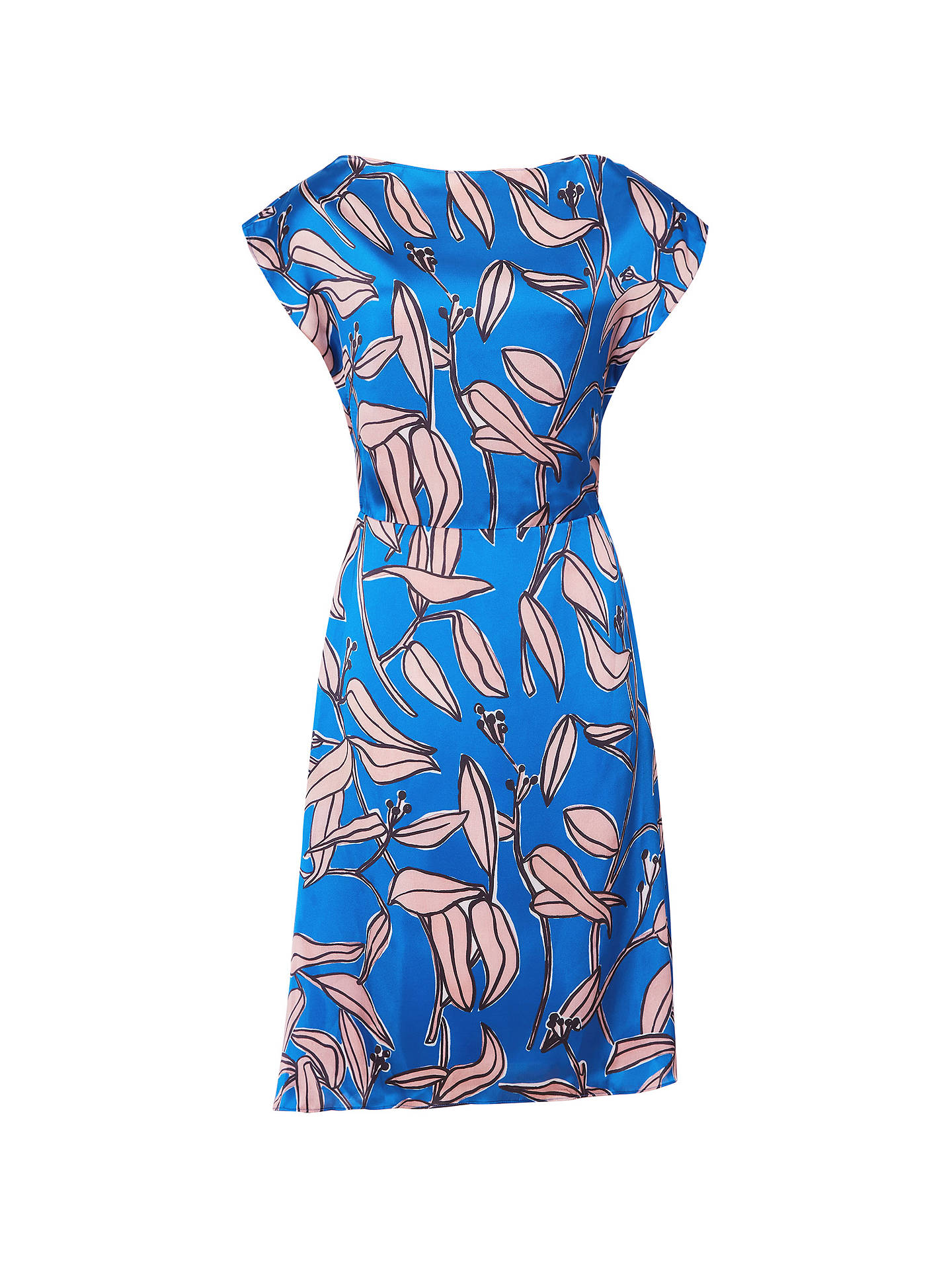 BuyReiss Sarah Print Midi Dress, Blue, 6 Online at johnlewis.com