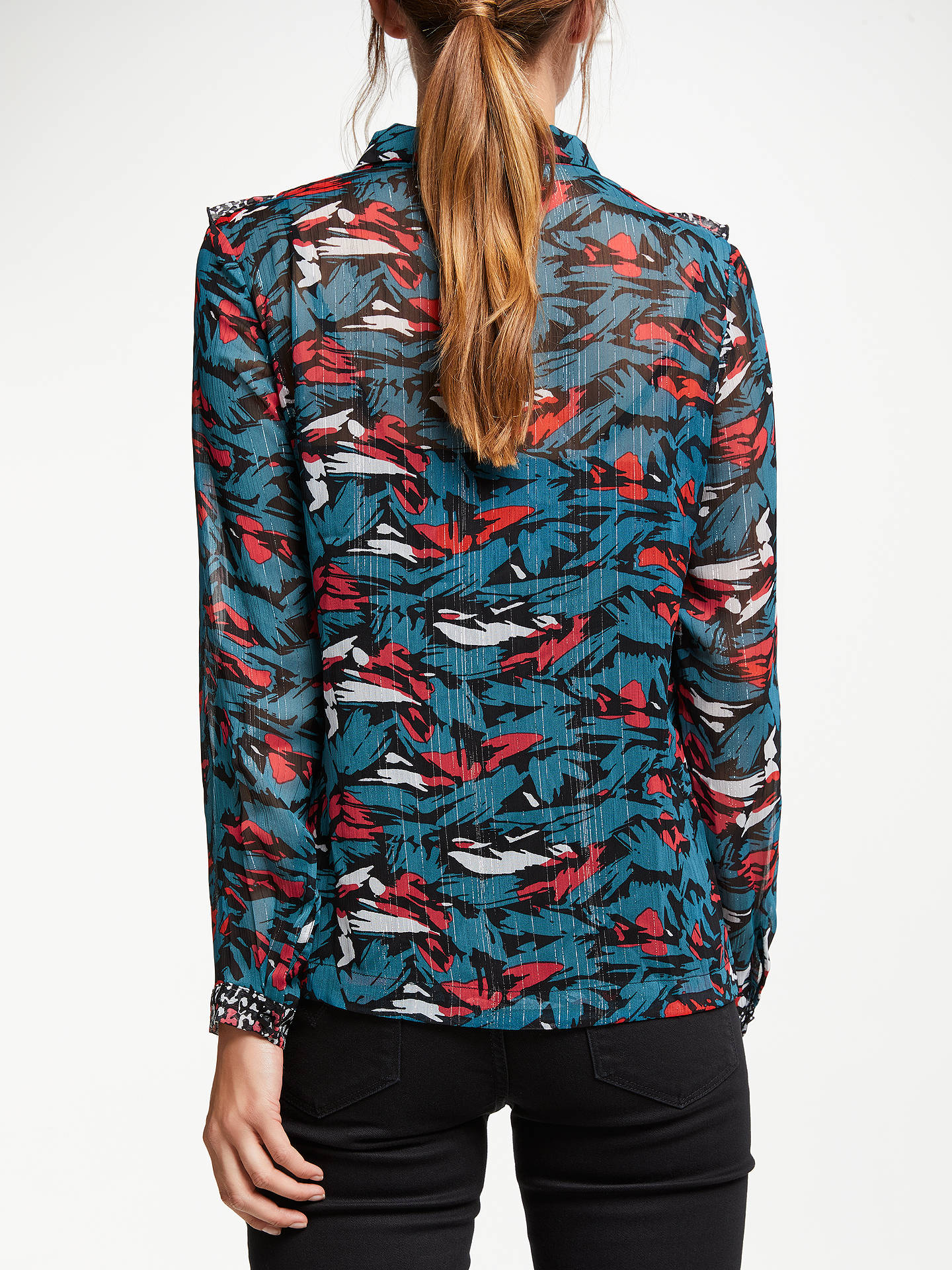 BuySUNCOO Levi Blouse, Blue Canard, 8 Online at johnlewis.com