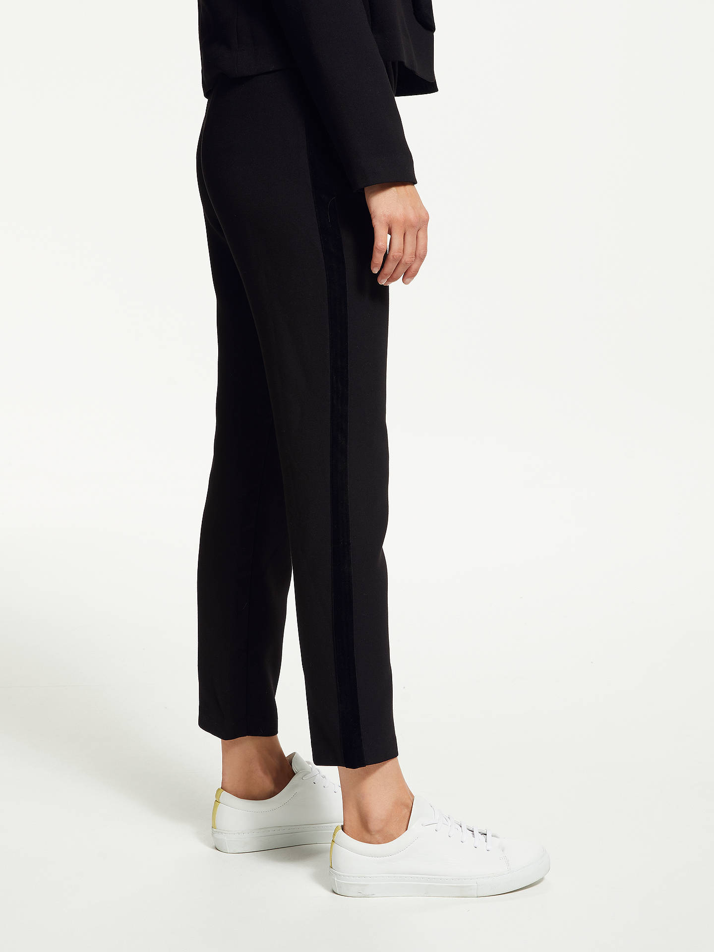 BuySUNCOO Jessie Velour Side Stripe Trousers, Black, 6 Online at johnlewis.com