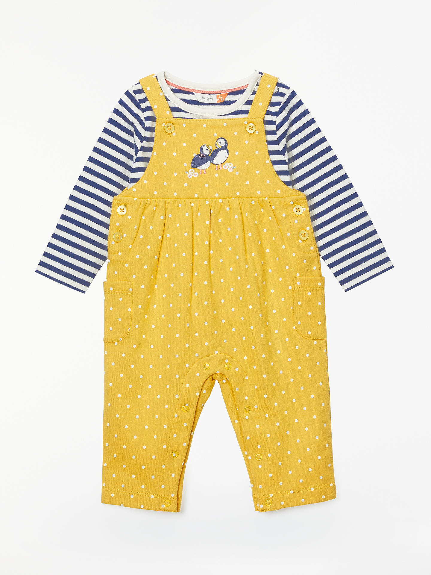 3cae42abf65f John Lewis   Partners Baby Puffin Dungaree and T-Shirt Set