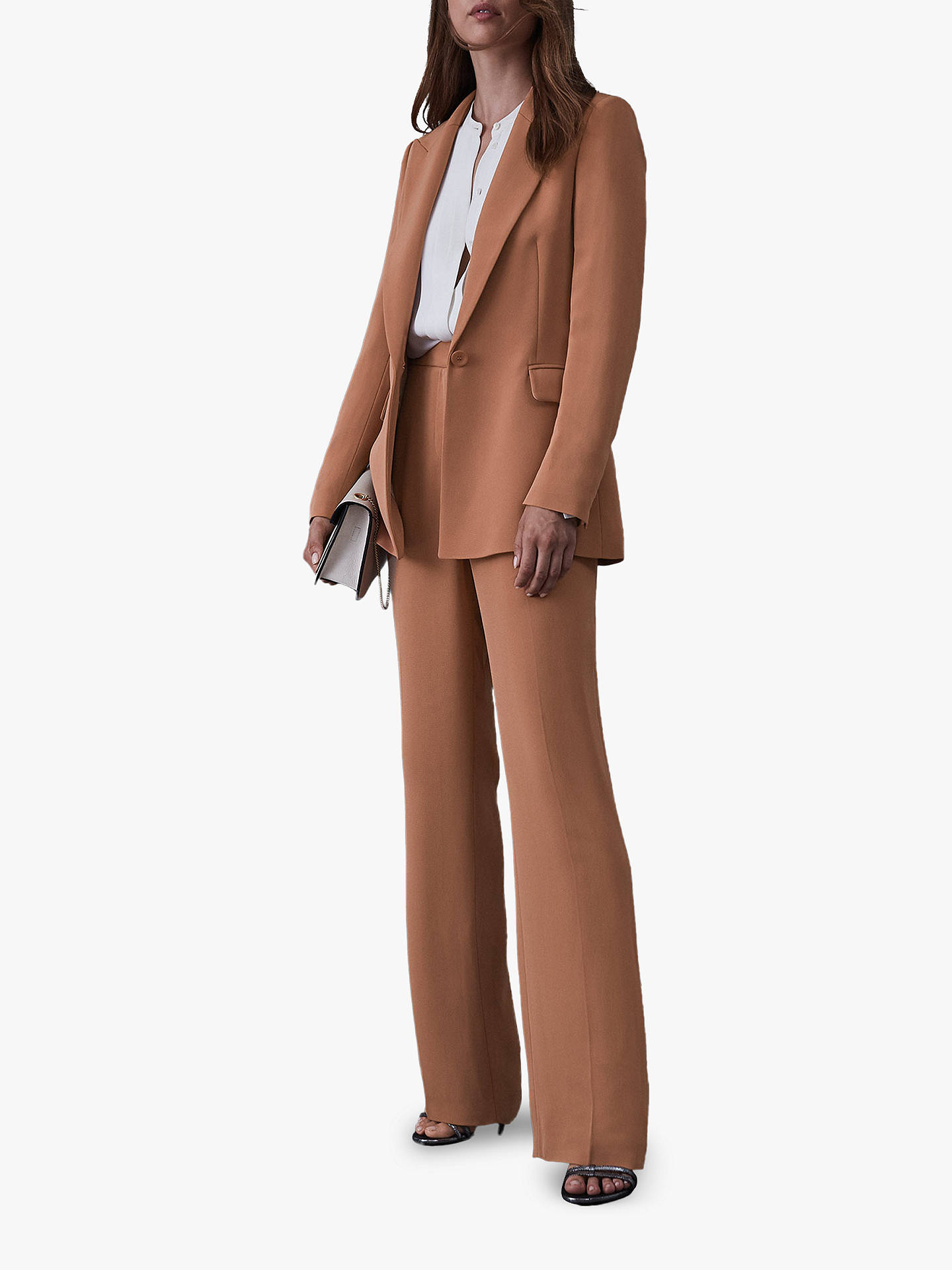 Buy Reiss Nuria Smart Trousers, Rust, 8 Online at johnlewis.com