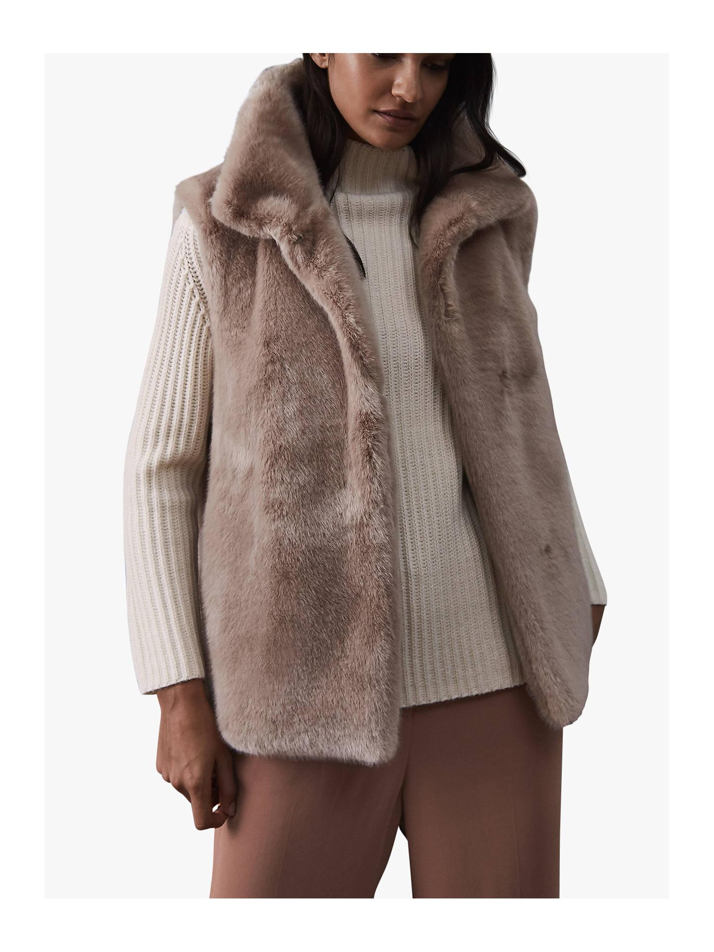 BuyReiss Fay Faux Fur Gilet 7300828b29218