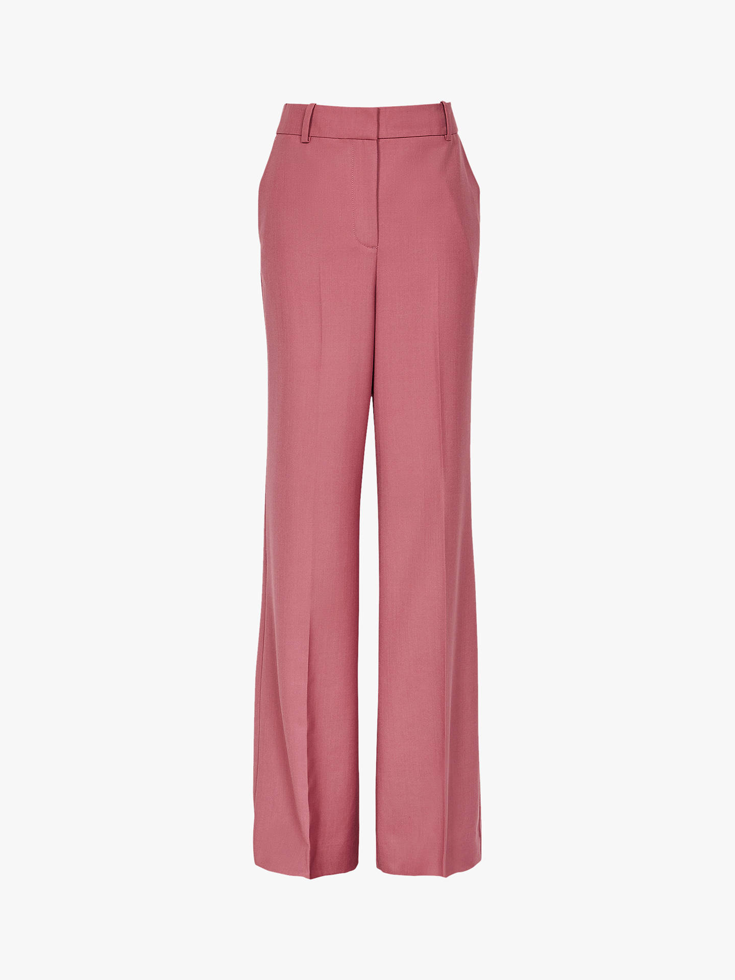 Buy Reiss Anakin Wide Leg Trousers, Tulip Pink, 6 Online at johnlewis.com