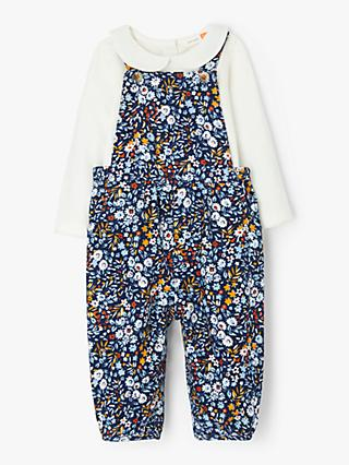 John Lewis & Partners Baby Floral Dungaree Set, Multi