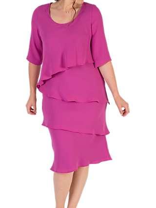 Chesca Layered Dress, Magenta