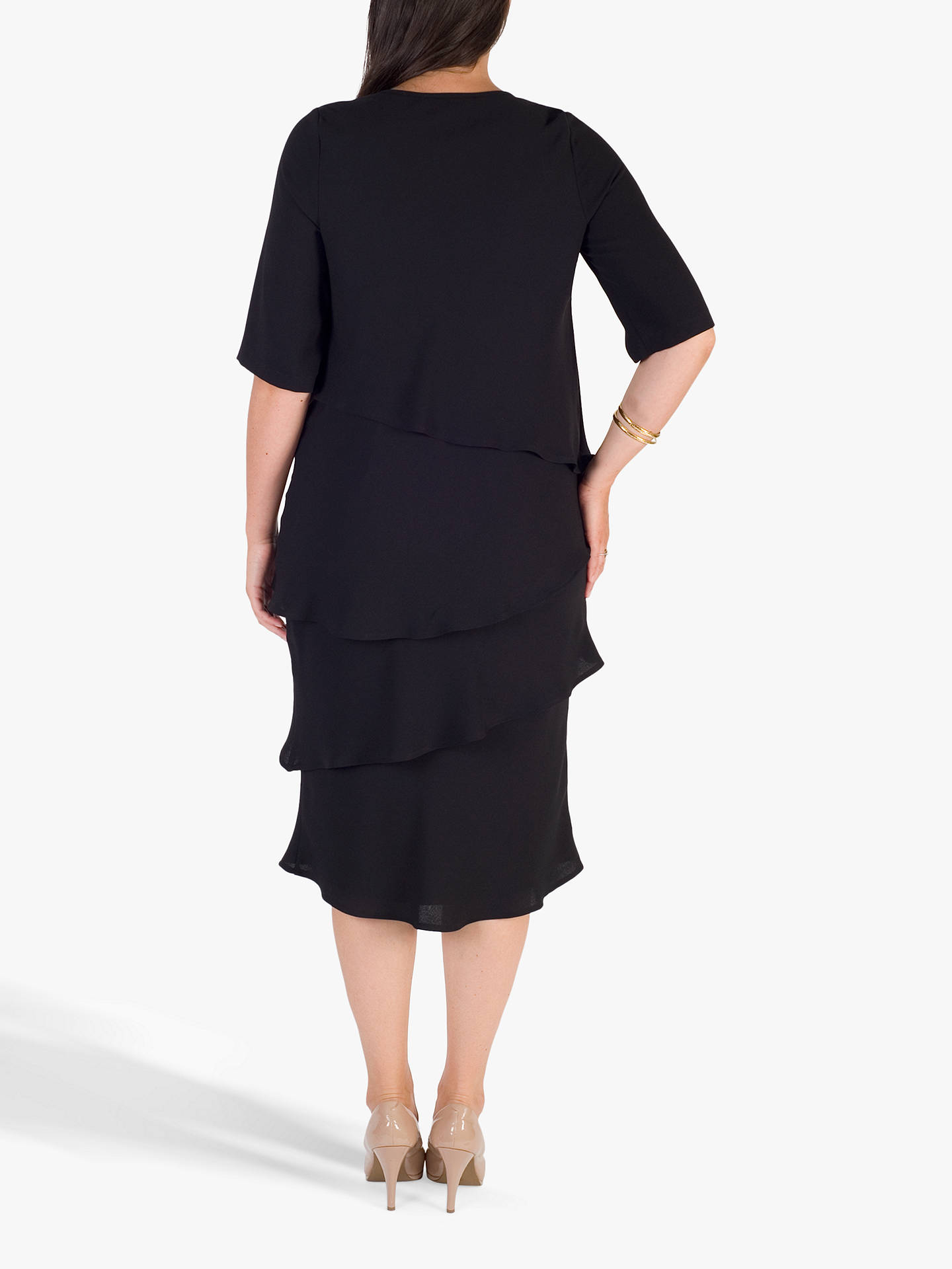 BuyChesca Layered Dress, Black, 18 Online at johnlewis.com