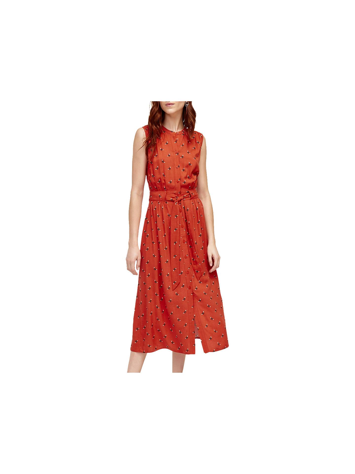 buywarehouse midi bee shirt dress orange 8 online at johnlewiscom