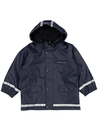 Polarn O. Pyret Children's Raincoat, Navy