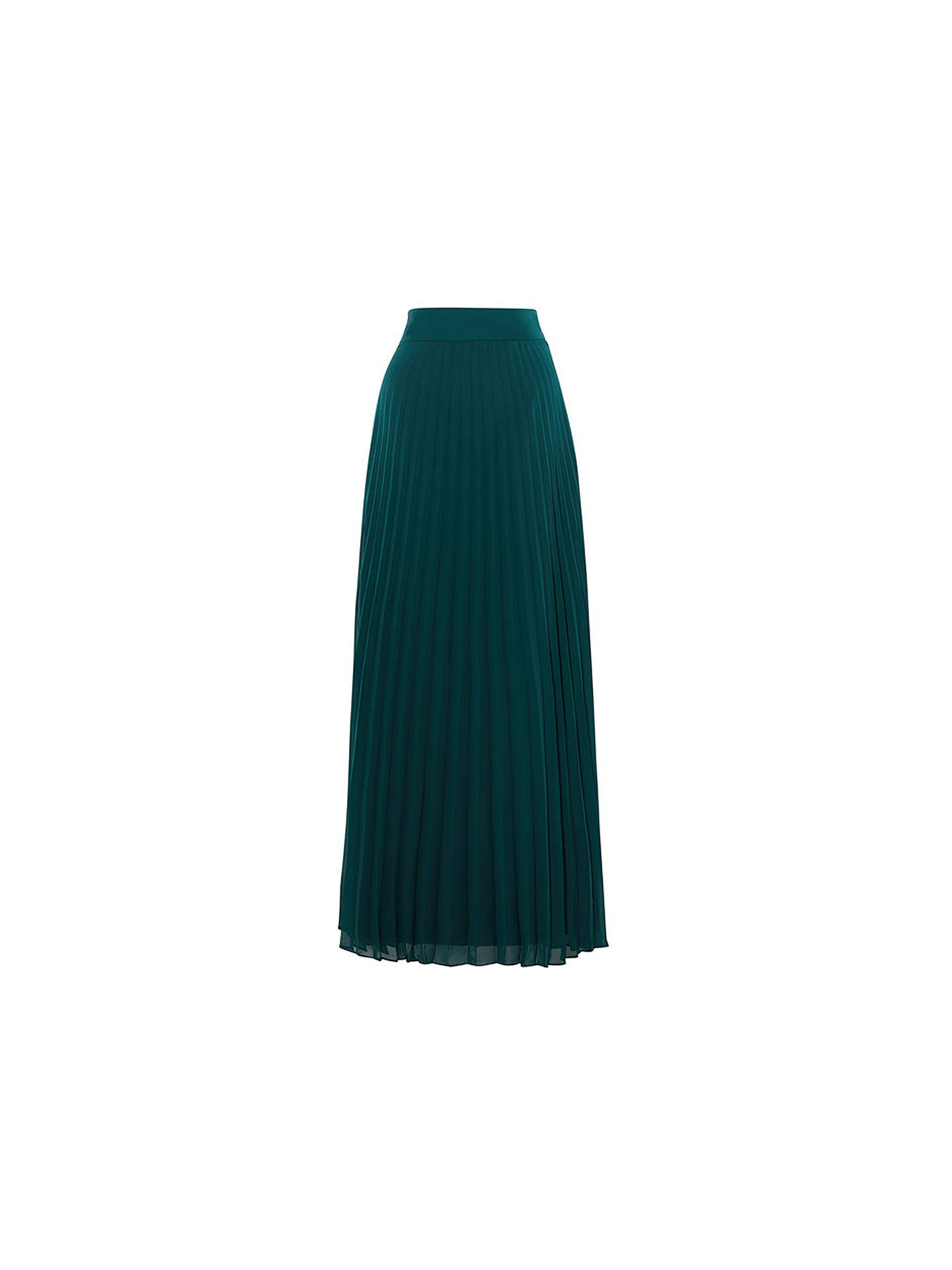 9b111f411ac9 ... Buy Coast Imi Pleated Maxi Skirt, Forest, 10 Online at johnlewis.com ...