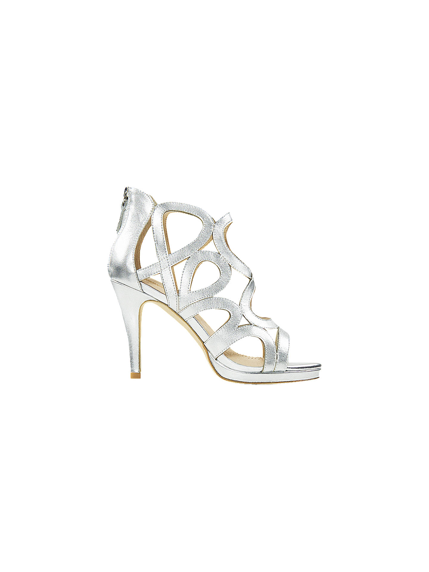 9874ce023aff Buy Sargossa Redefined Stiletto Heel Sandals, Silver Leather, 8 Online at  johnlewis.com ...