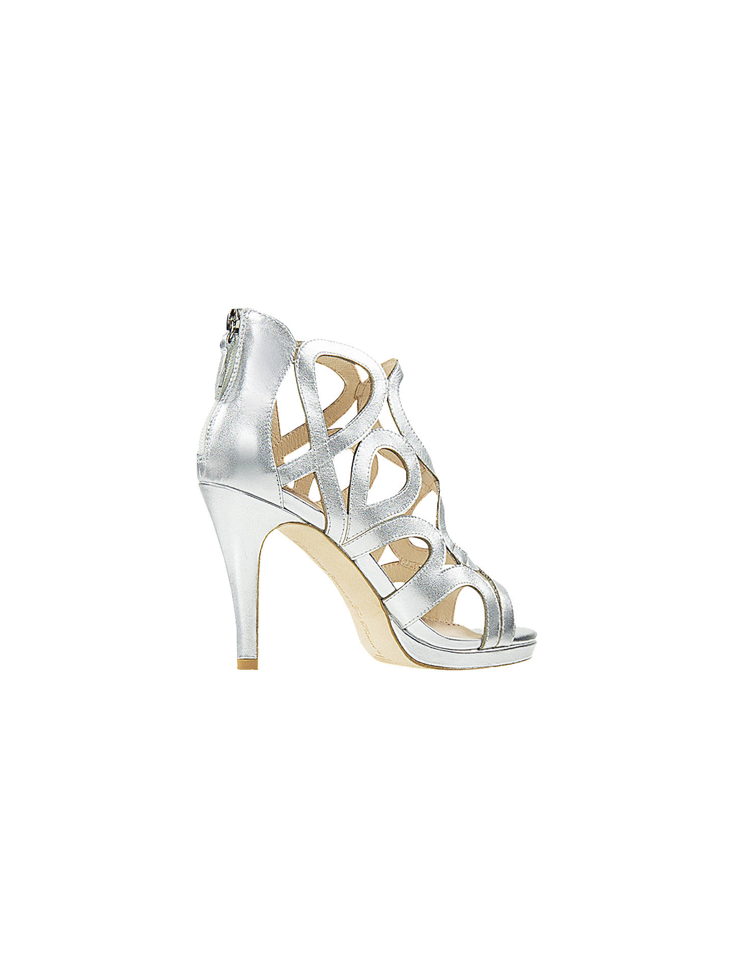 79bf81772363 ... Buy Sargossa Redefined Stiletto Heel Sandals, Silver Leather, 8 Online  at johnlewis.com ...