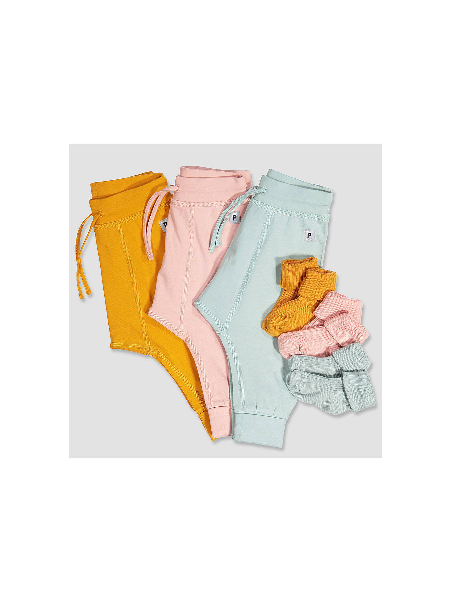 Buy Polarn O. Pyret Baby Trousers, Yellow, 0-1 months Online at johnlewis.com