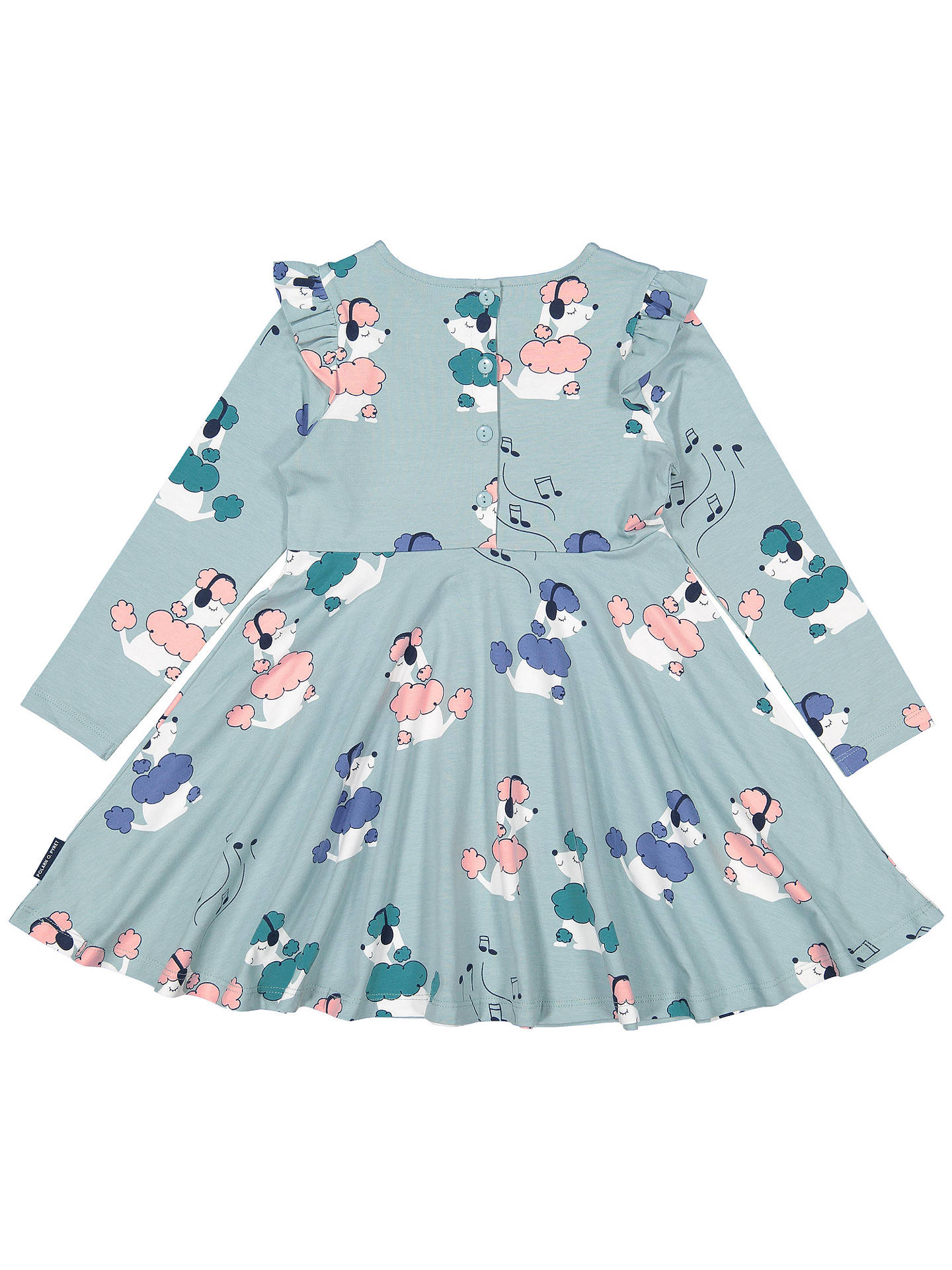 Buy Polarn O. Pyret Girls' Poodle Print Dress, Green, 3-4 years Online at johnlewis.com
