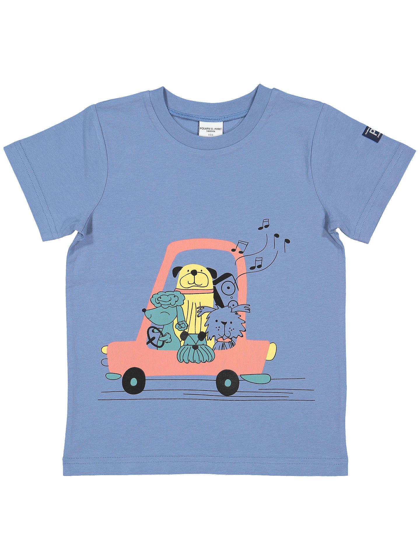 0e038fc8 Buy Polarn O. Pyret Children's GOTS Organic Cotton Musical Dogs Graphic T- Shirt, ...