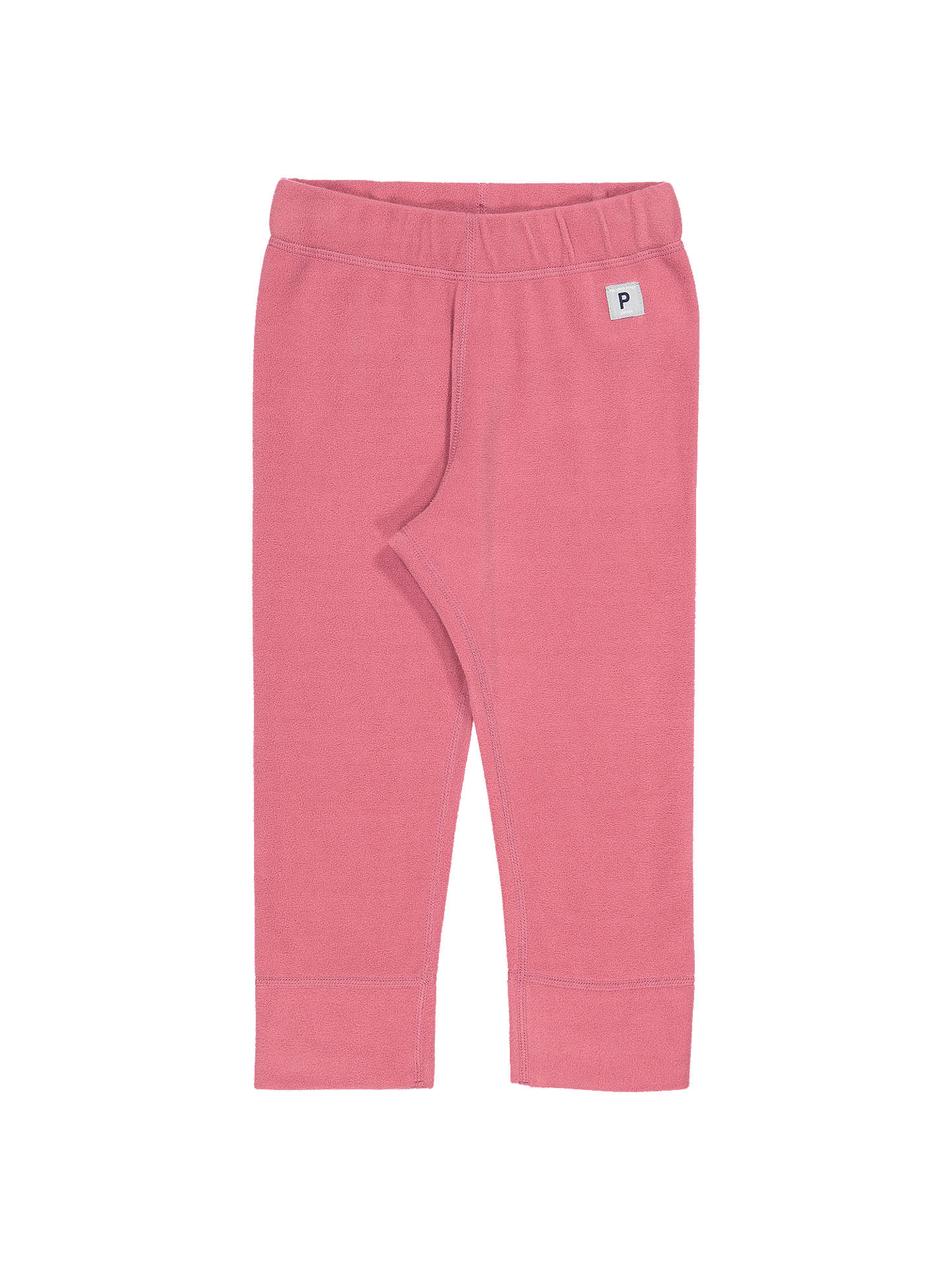 Buy Polarn O. Pyret Baby Fleece Trousers, Pink, 6-12 months Online at johnlewis.com