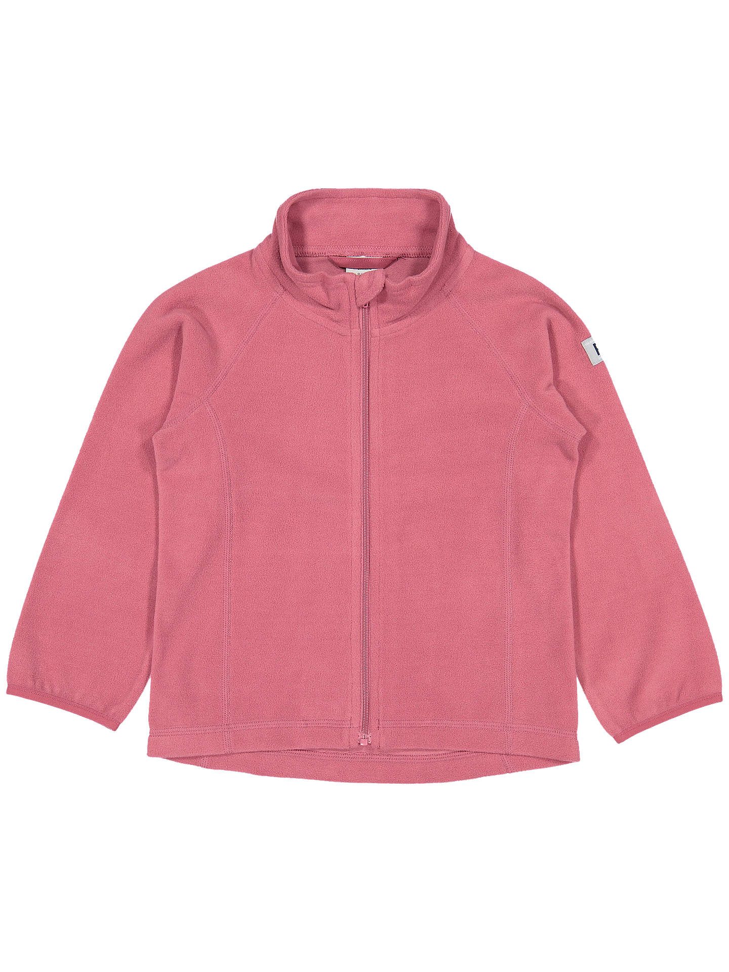 BuyPolarn O. Pyret Baby's Zip Fleece, Pink, 12-24 months Online at johnlewis.com