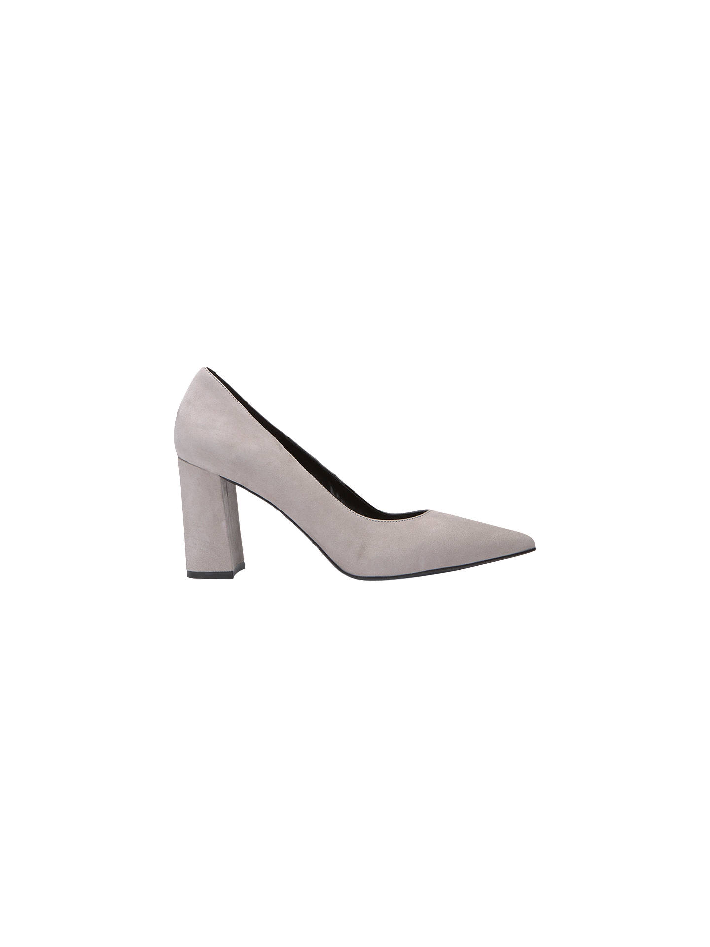 712103497e64e Buy Mint Velvet May Block Heel Court Shoes, Light Grey Suede, 5 Online at  ...