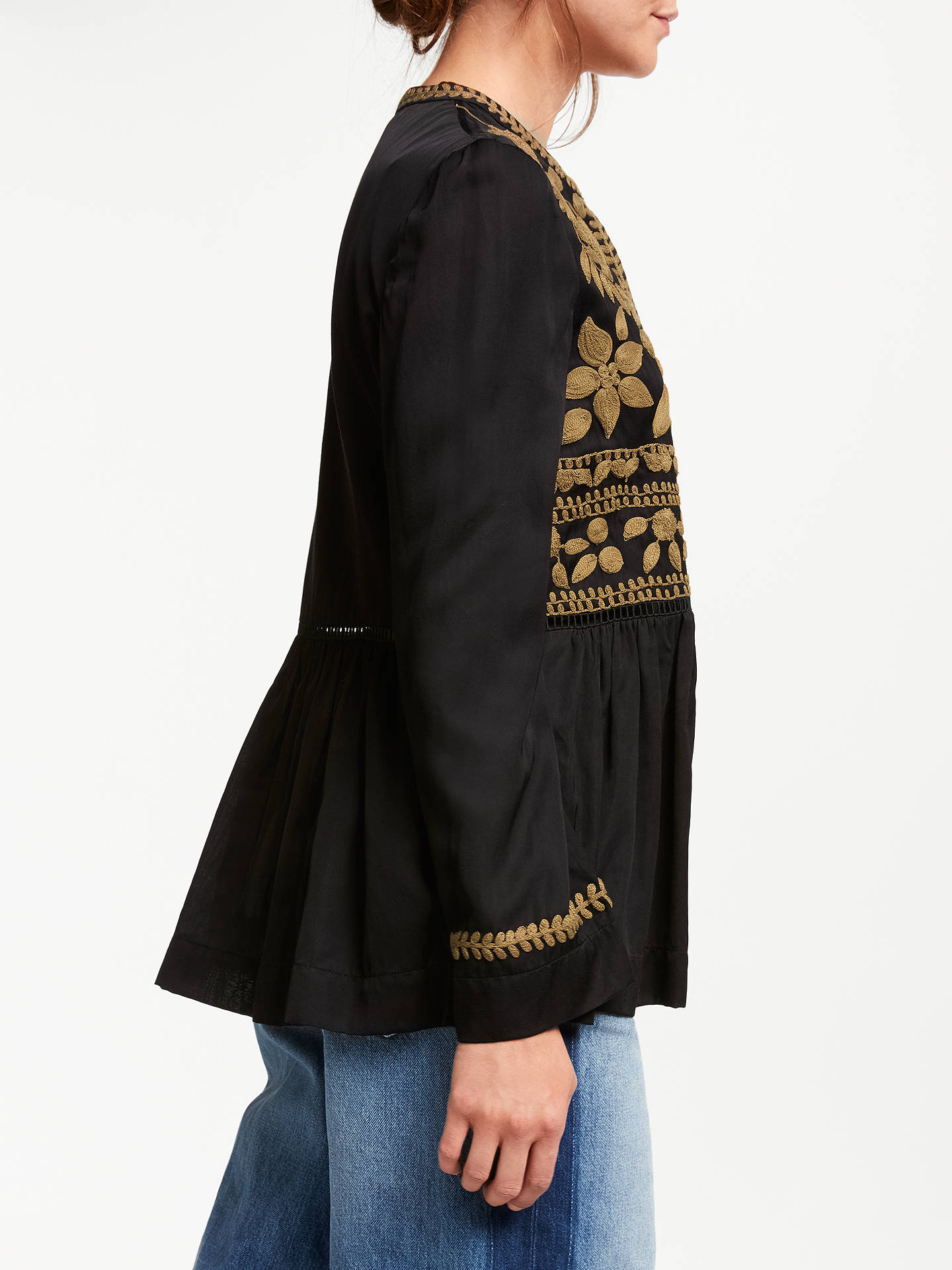 BuyStella Forest Bulgarie Embroidered Jacket, Black, 16 Online at johnlewis.com