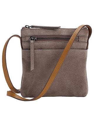 White Stuff Suede Cross Body Bag Taupe
