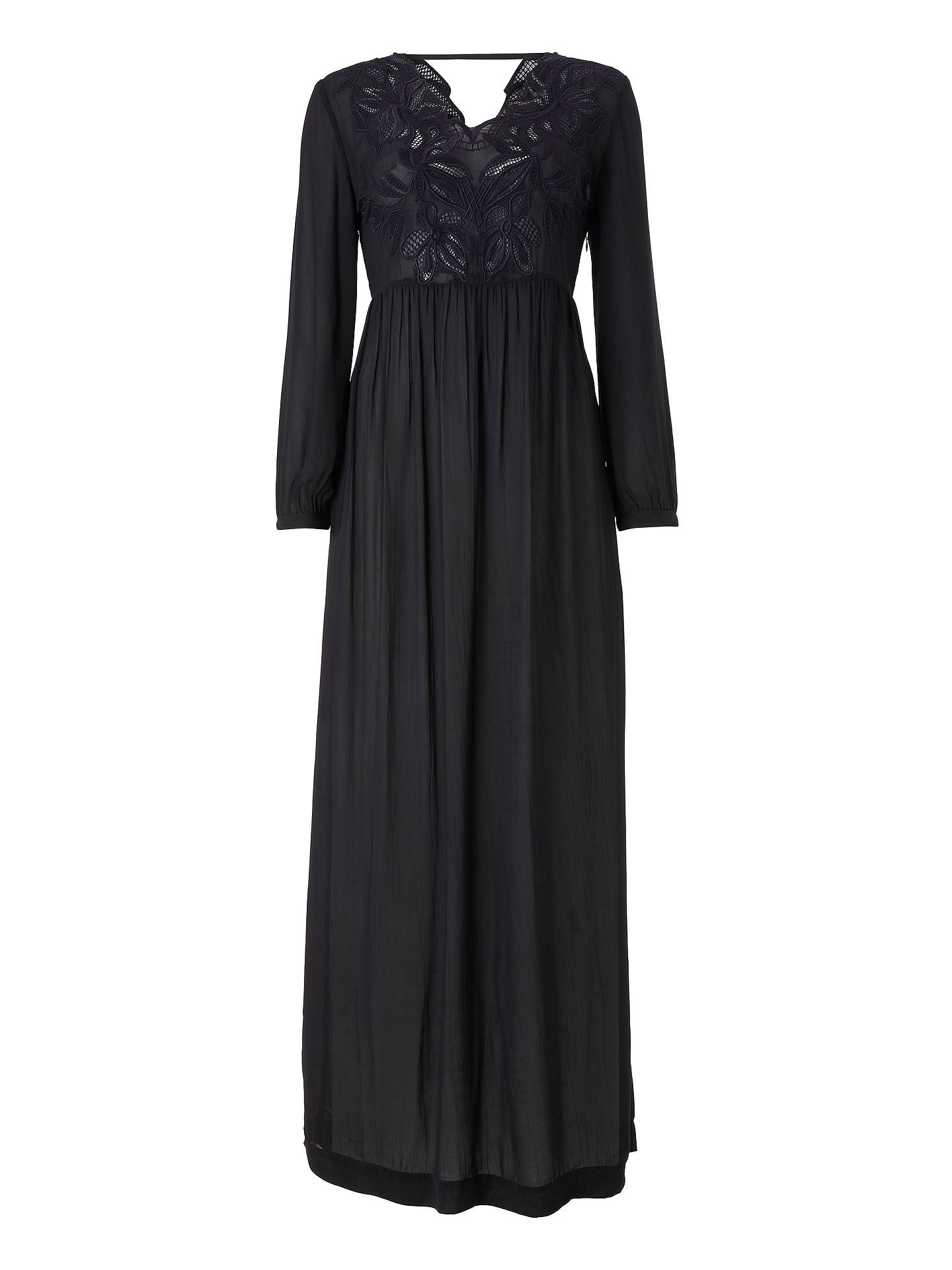 Buy Stella Forest Floral Embroidered Maxi Dress, Marine, 8 Online at johnlewis.com