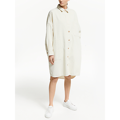 Kin Oversized Cord Shirt Dress