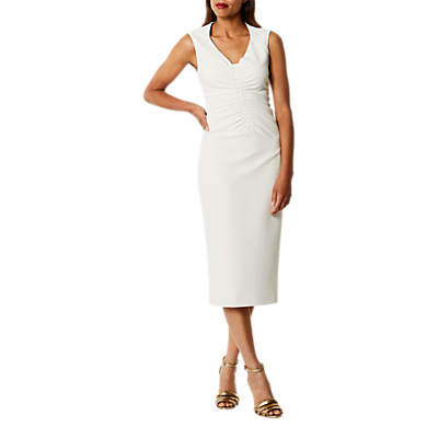 Karen Millen Gathered Midi Dress, Ivory