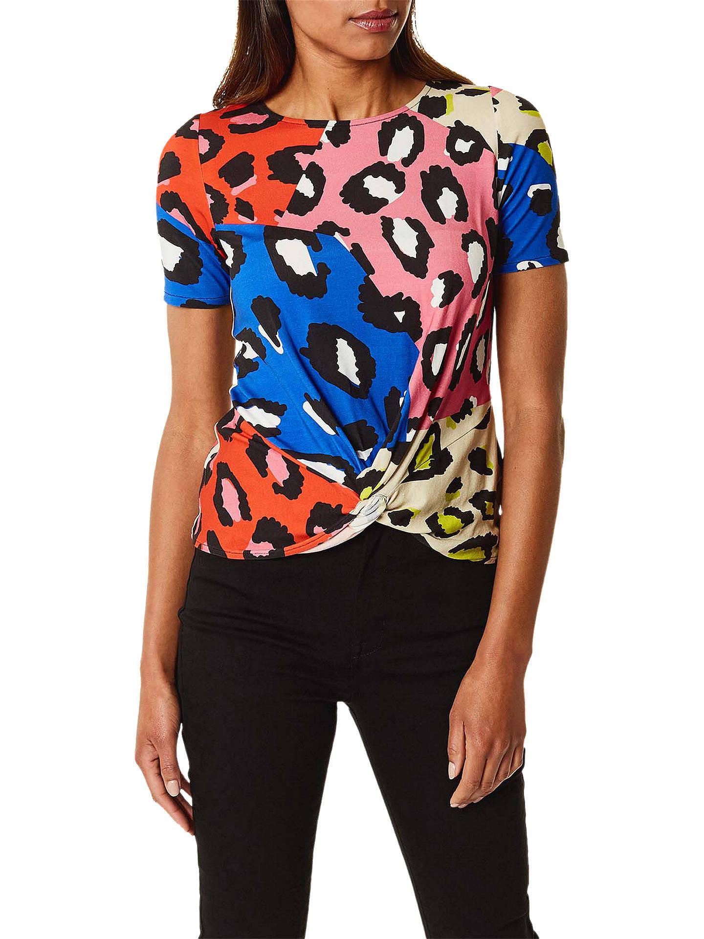f2ae7174822e Buy Karen Millen Leopard Print T-Shirt, Multicolour, 12 Online at johnlewis.