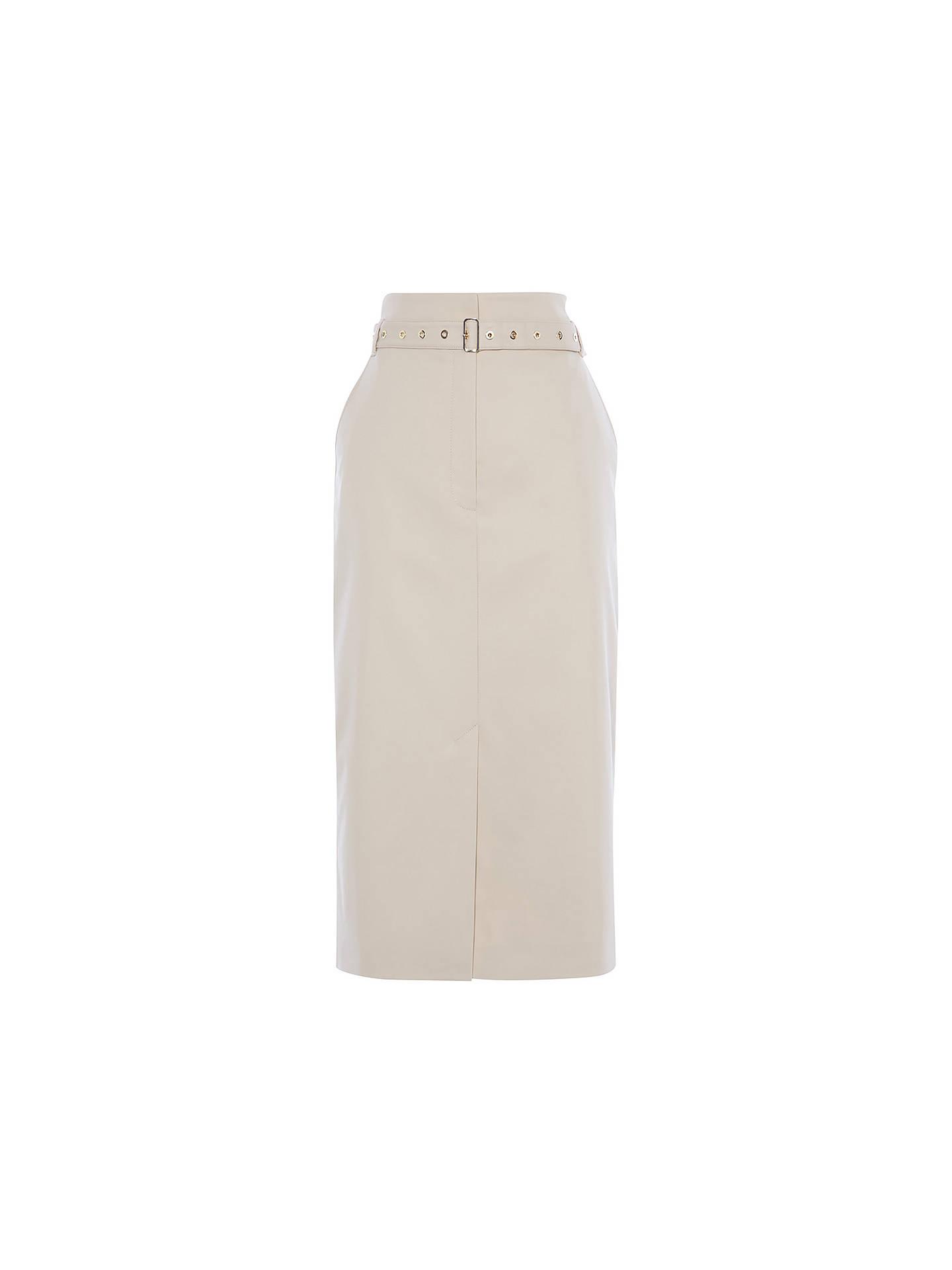 New KAREN MILLEN Stone BNWT £125 SD026 Belted Utility Skirt UK Size 10 12 14 16