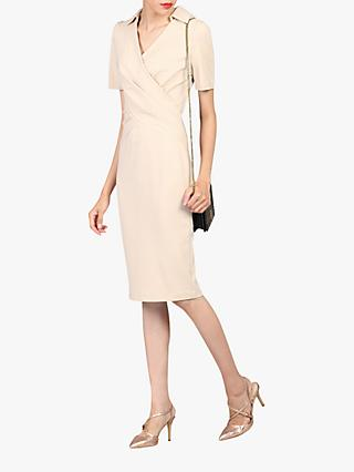Jolie Moi Cross Front Dress, Beige