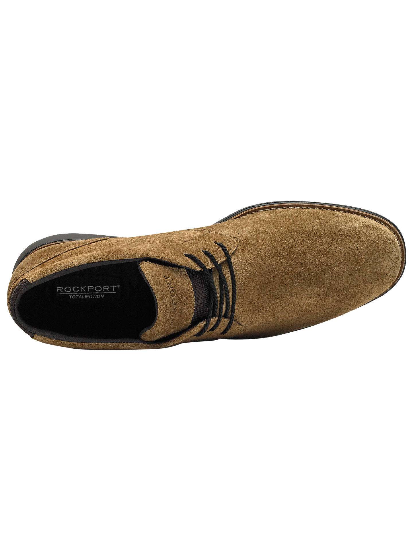 Buy Rockport Total Motion C.F. Stead Suede Sports Chukka Boots, Burnt Sugar, 9 Online at johnlewis.com