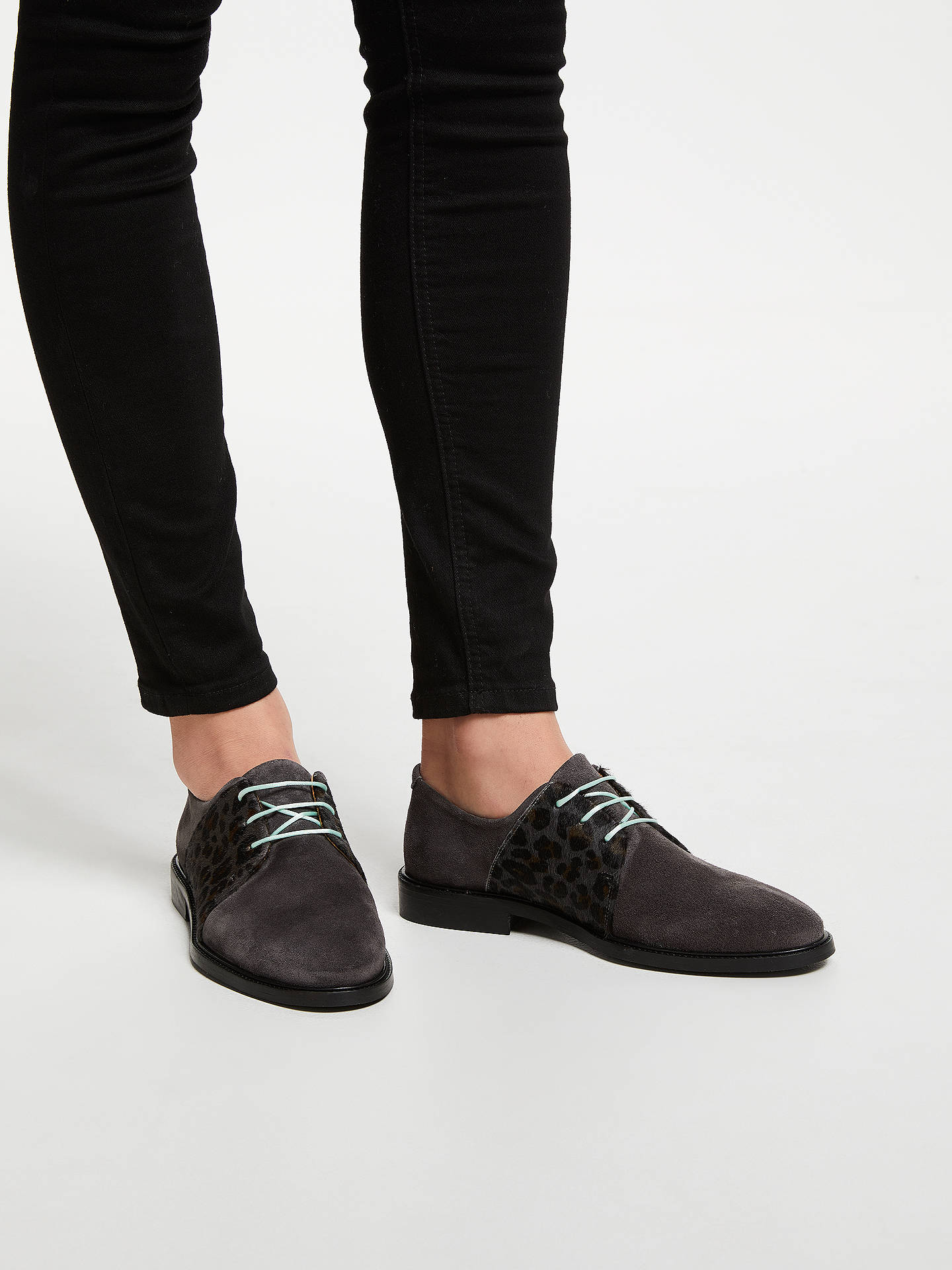 BuyRogue Matilda Skittle Animal Print Brogues, Grey, 8 Online at johnlewis.com