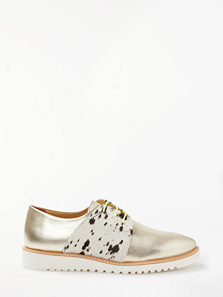 Buy Rogue Matilda Taffy Leather Brogues, Gold, 6 Online at johnlewis.com