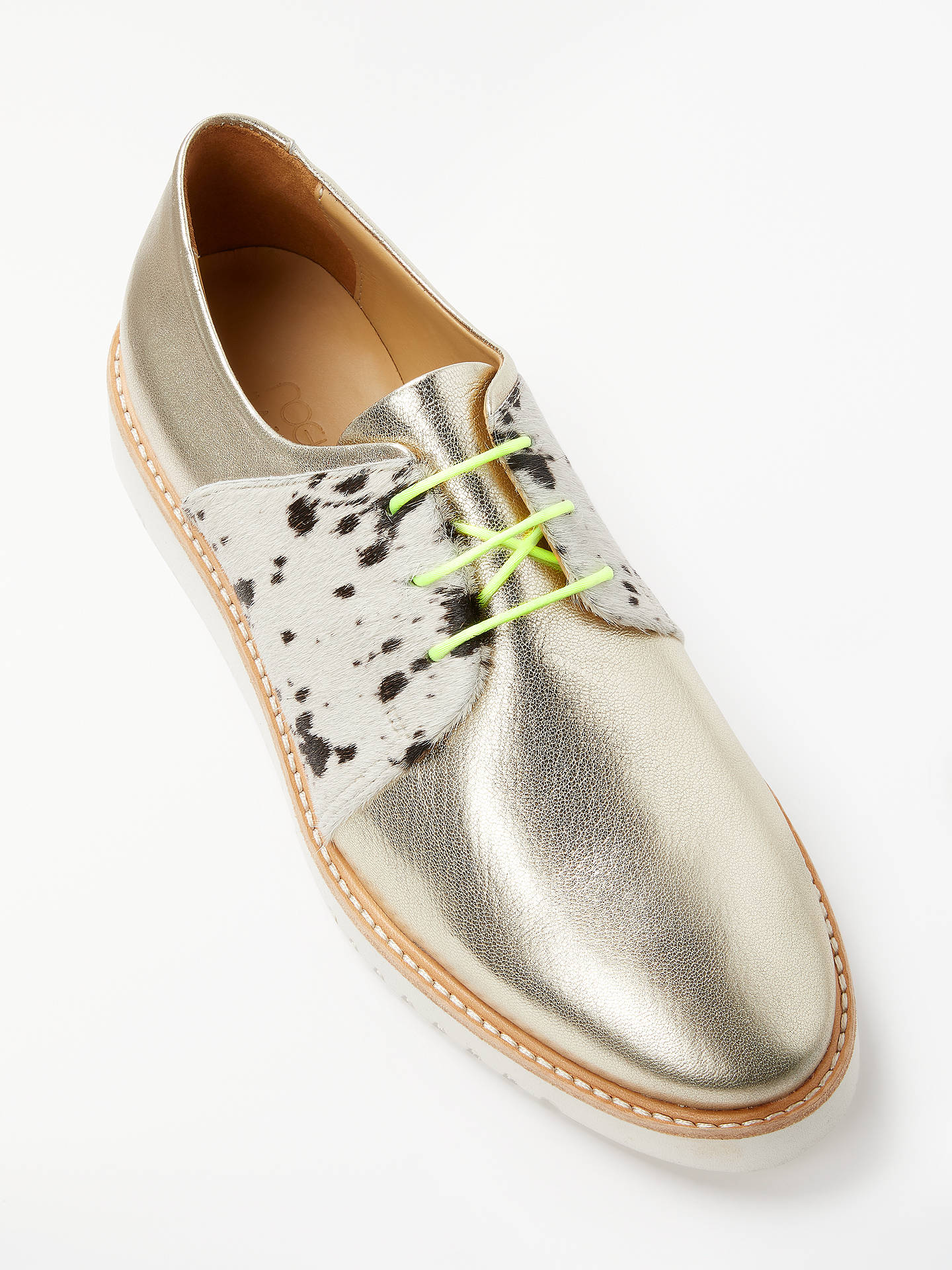 BuyRogue Matilda Taffy Leather Brogues, Gold, 8 Online at johnlewis.com