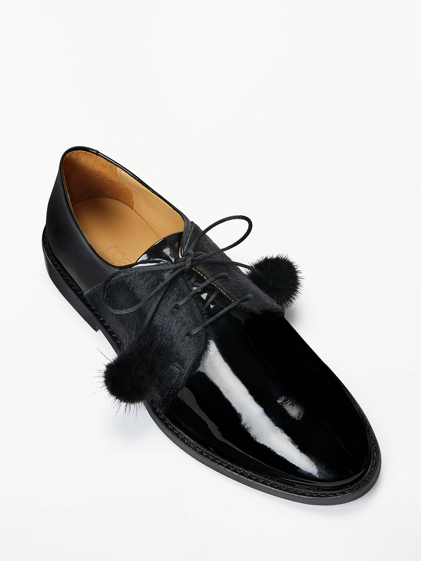 Buy Rogue Matilda Pomme Noir Brogues, Black, 6 Online at johnlewis.com