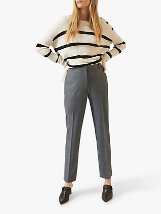 Jigsaw Flannel Trousers, Mid Grey