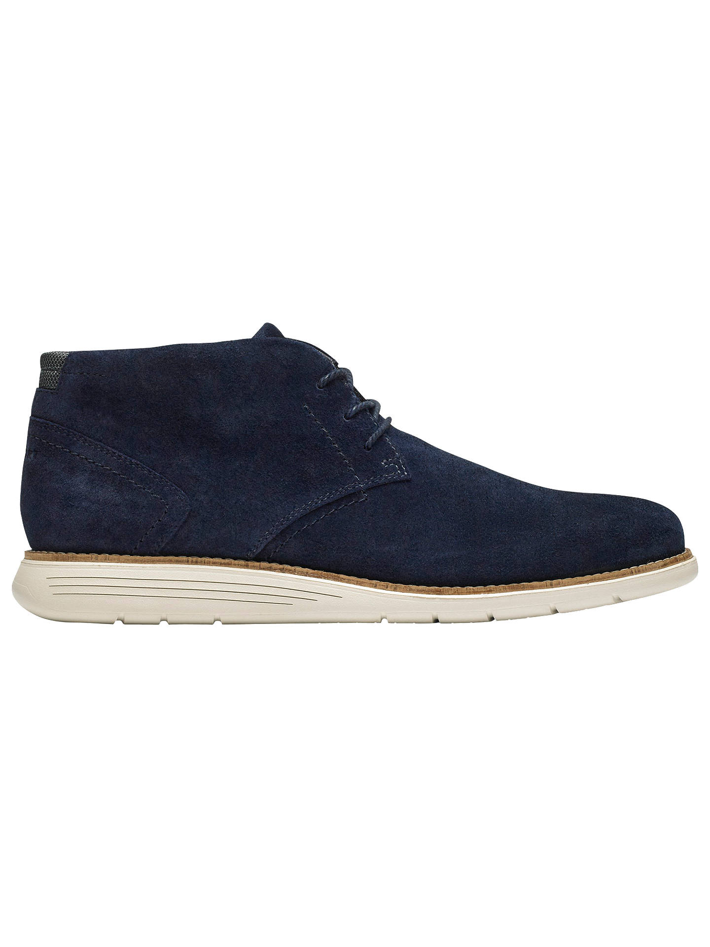 BuyRockport Total Motion C.F. Stead Suede Sports Chukka Boots, Navy, 8 Online at johnlewis.com