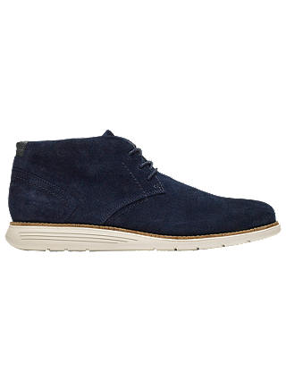 Buy Rockport Total Motion C.F. Stead Suede Sports Chukka Boots, Navy, 8 Online at johnlewis.com