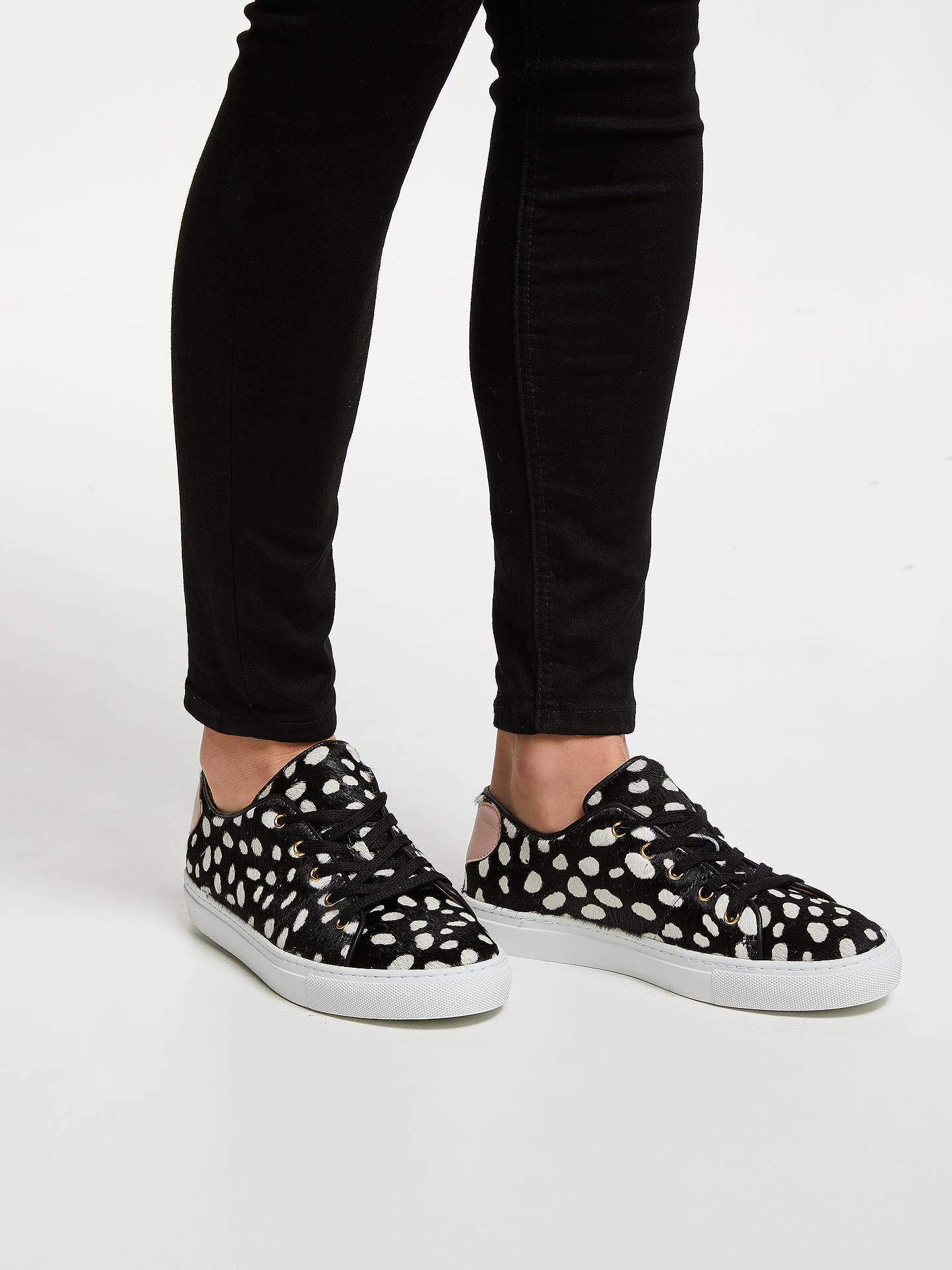 BuyRogue Spotted Sweetheart Lace Up Trainers, Black/White, 5 Online at johnlewis.com
