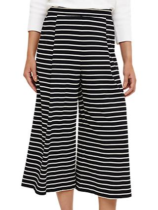 Phase Eight Sansa Stripe Culotte Trousers, Navy