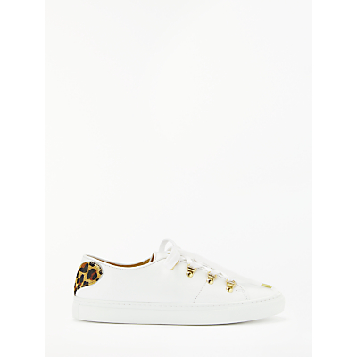Rogue Tough Love Lace Up Trainers, White Leather