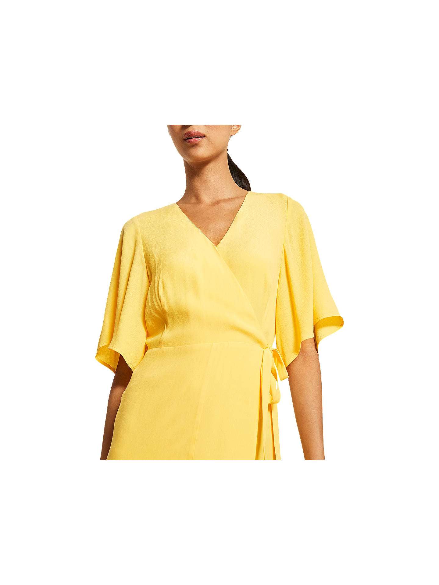 80d46eb731aa ... Buy Mint Velvet Wrap Dress, Yellow, 6 Online at johnlewis.com ...