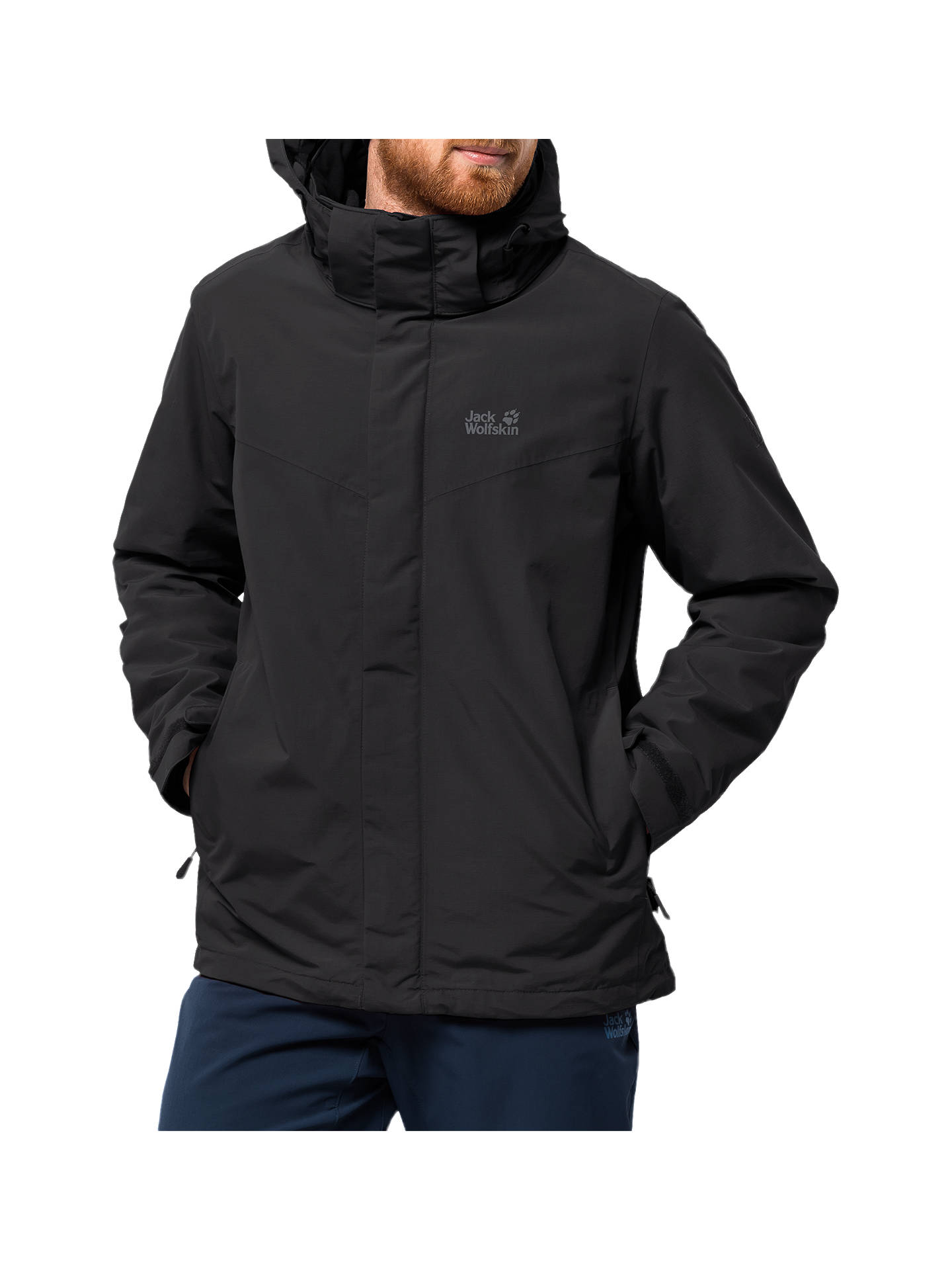 brand new 55164 f135f Jack Wolfskin Gotland 3-in-1 Men's Jacket, Black