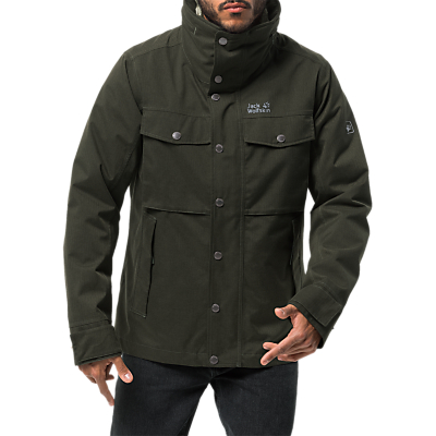 Image of Jack Wolfskin Fraser Canyon Men's Waterproof Jacket, Pinewood