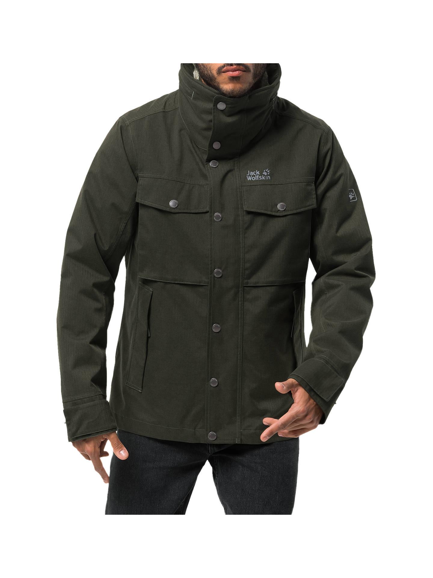 545b150de30 Buy Jack Wolfskin Fraser Canyon Men's Waterproof Jacket, Pinewood, S Online  at johnlewis.