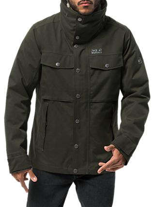 Jack Wolfskin Fraser Canyon Men's Waterproof Jacket, Pinewood